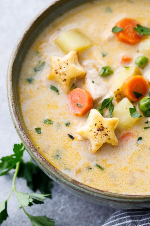 The Creamiest Chicken Pot Pie Soup