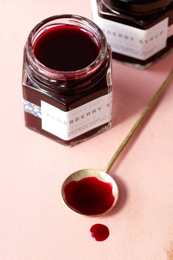 Naturally Sweetened Elderberry Syrup Recipe for Canning