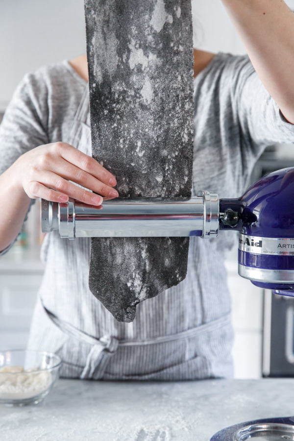 How to Make Squid Ink Pasta using your KitchenAid Stand Mixer