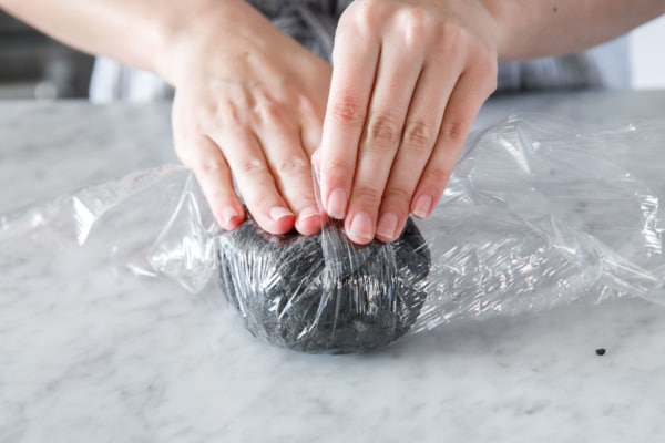 How to Make Squid Ink Pasta - Be sure to let the dough rest!