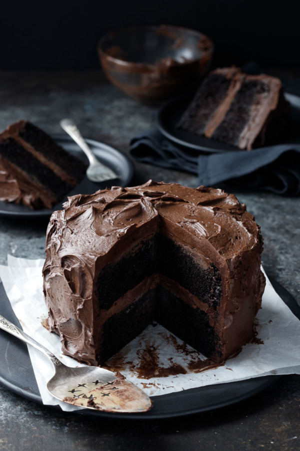 Ultimate Chocolate Cake With Fudge Frosting Love And Olive Oil