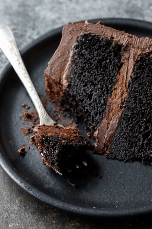 Ultra rich and moist Chocolate Layer Cake recipe with Fudge Frosting
