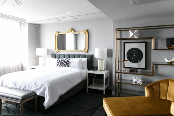 Astrology-themed guest rooms at Hotel LeVeque, Columbus, Ohio
