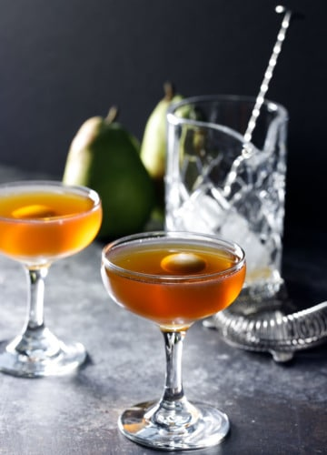 Pear Manhattan Cocktail Recipe