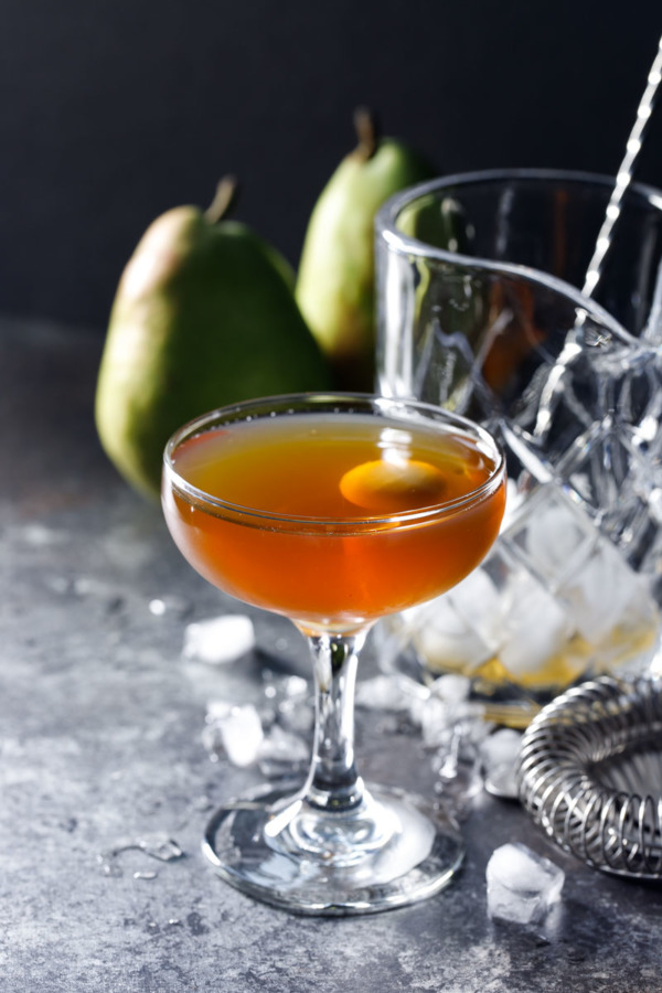 Pear Manhattan Winter Cocktail Recipe