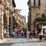 Market square, Verona, Italy