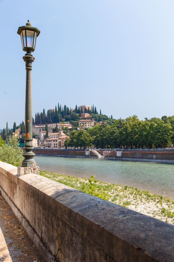 Along the banks of the Adige river, Verona, Italy