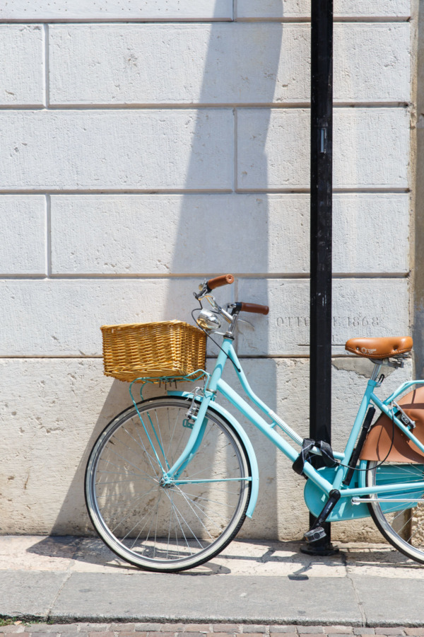 Baby blue bicycle, Verona, Italy