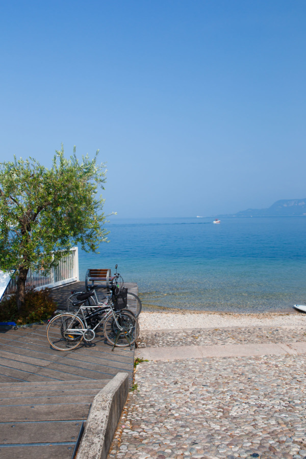 Along the banks of Lake Garda, Italy