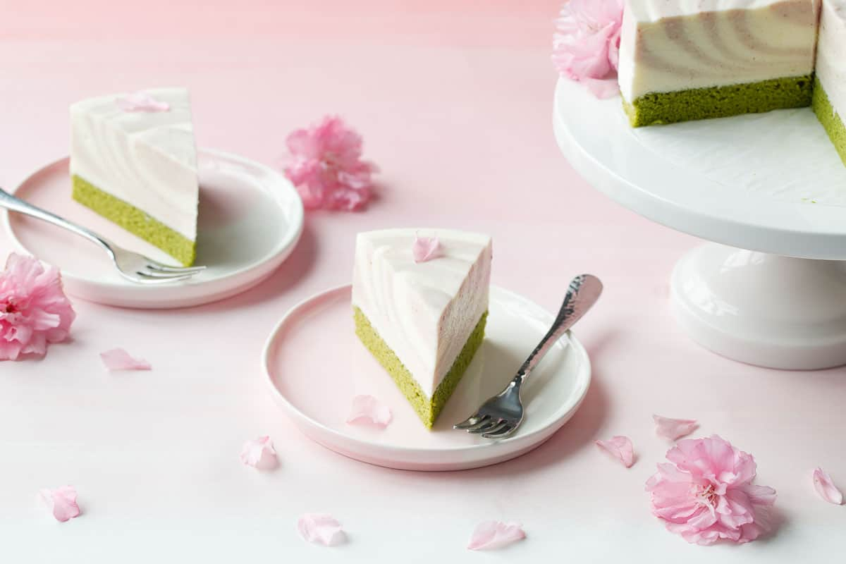 Sakura Matcha Mousse Cake