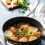 One Pan Moroccan Lemon Chicken with Orzo Recipe