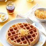 Meyer Lemon Buttermilk Waffles Recipe with Candied Citrus Peel