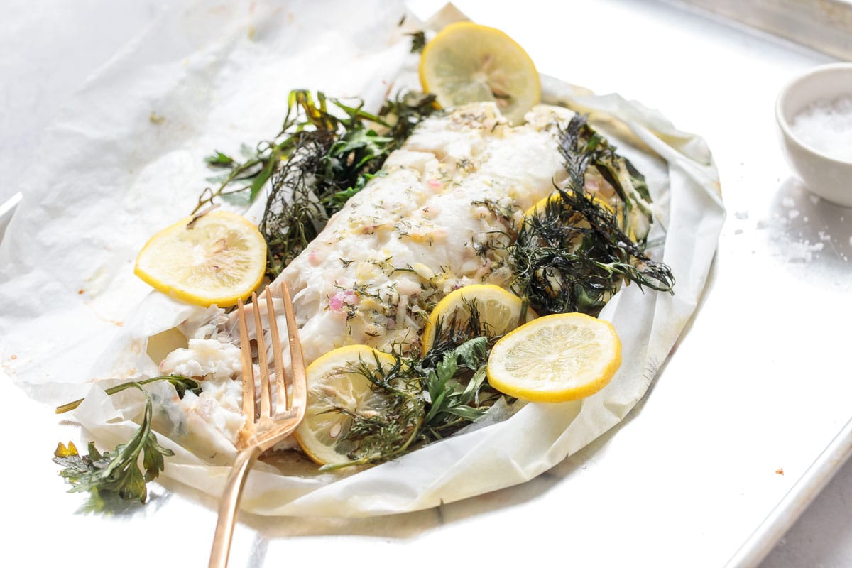 Fish en Papillote with Fresh Herbs and Lemon