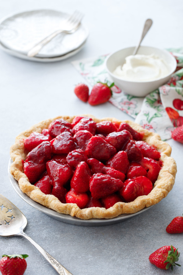 Fresh Strawberry Rose Pie Recipe with a hint of rose water