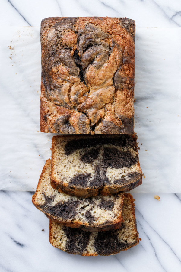 Black Sesame Swirl Banana Bread Recipe