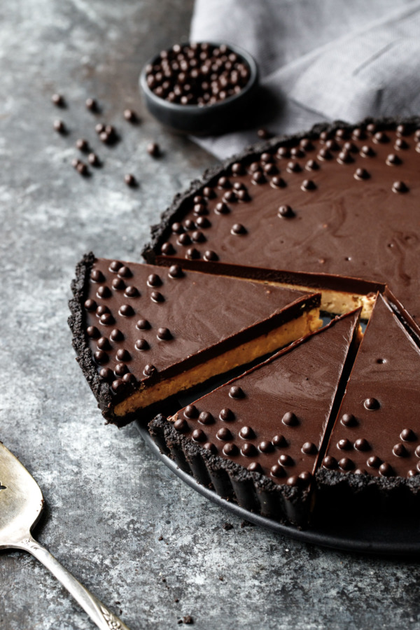 Crunchy Peanut Butter and Chocolate Tart Recipe