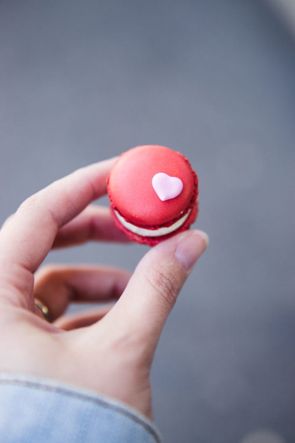 Mini macaron from Confiserie Sprüngli, Zurich, Switzerland