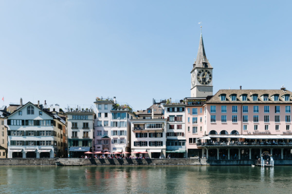 Buildings along the Limmat River, Zurich, Switzerland