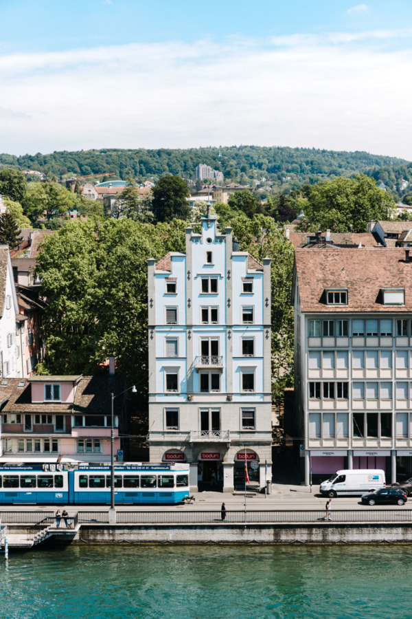 Unique architecture and convenient public transportation in Zurich, Switzerland
