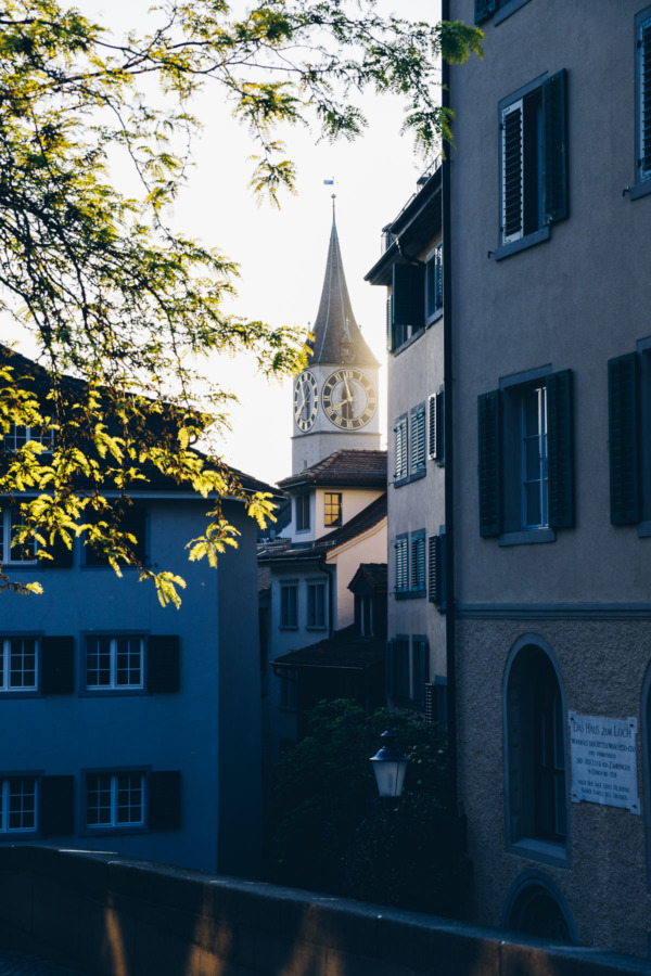 Golden hour in Zurich, Switzerland