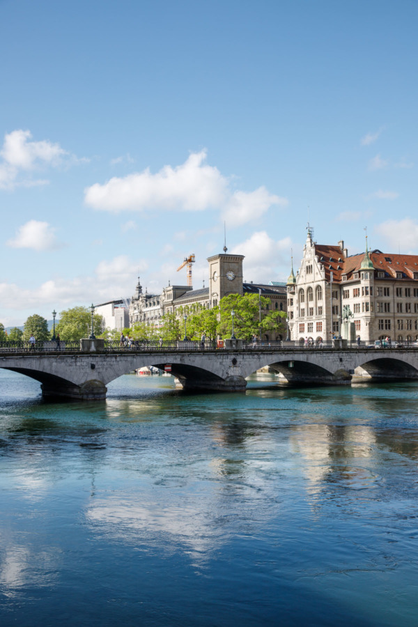 Bridge over the Limmat River, Zurich, Switzerland