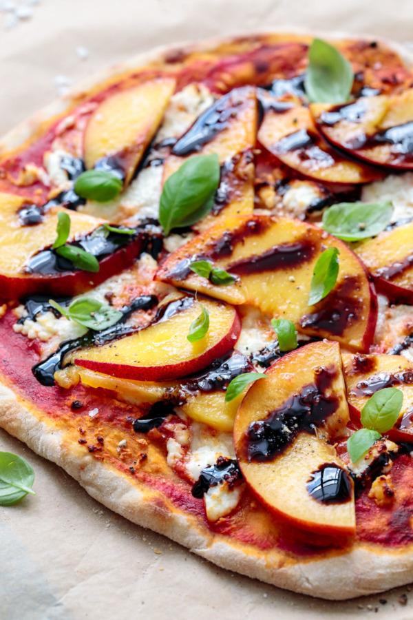Peach, Goat Cheese & Balsamic Pizza Recipe