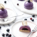Mini Blueberry Mousse Cakes Recipe with Mirror Glaze
