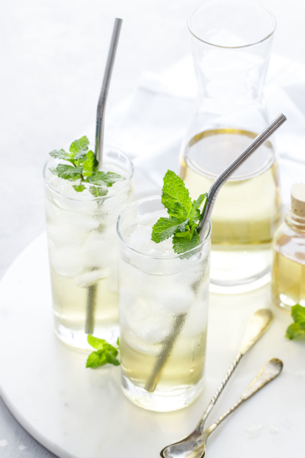 Glass of Fresh Mint Iced Tea