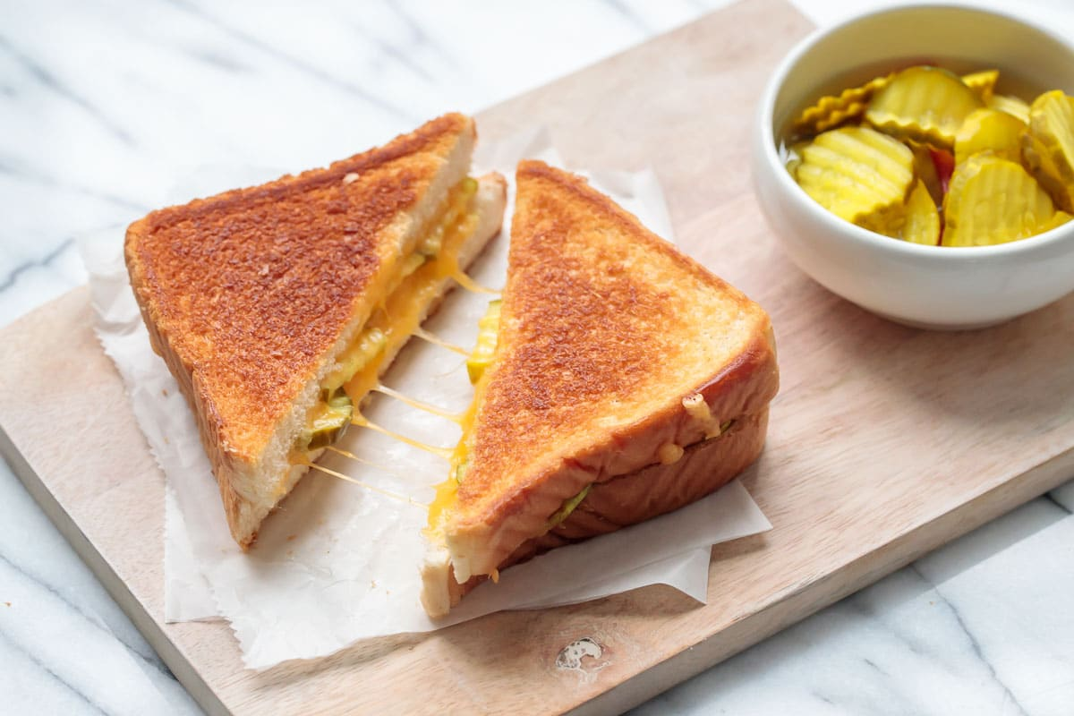 Pickle Grilled Cheese Sandwiches