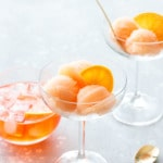 Spritz Sorbet - Your favorite summer cocktail churned into a refreshing sorbet!