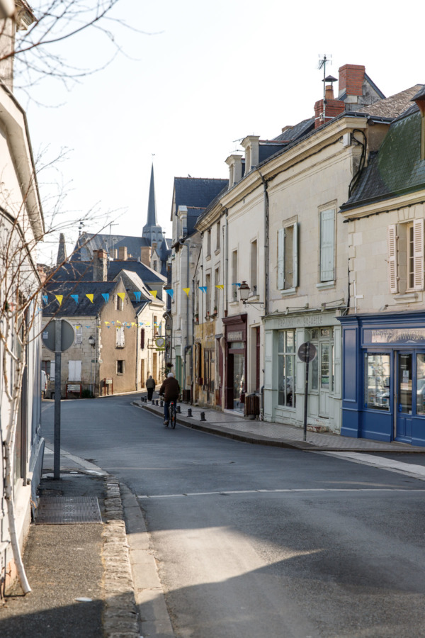 Charming streets of Montreuil-Bellay, France
