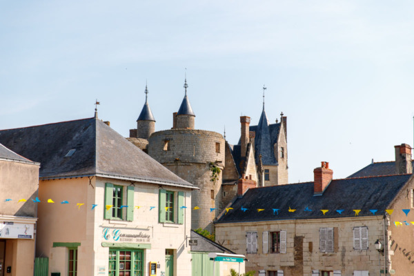 Looking towards the Château from the streets of Montreuil-Bellay, France