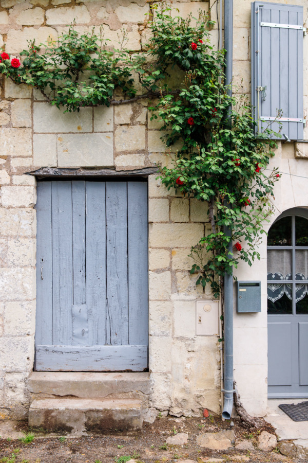 Doors and flowers, Montsoreau, France