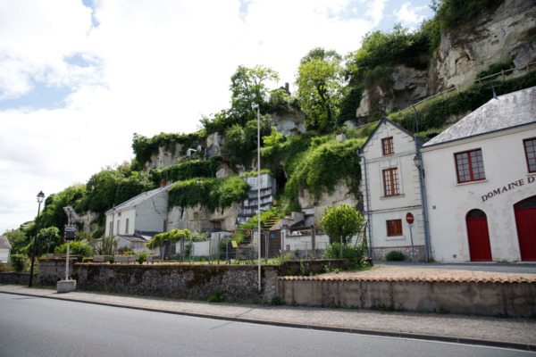 Troglodyte houses in Montsoreau, France