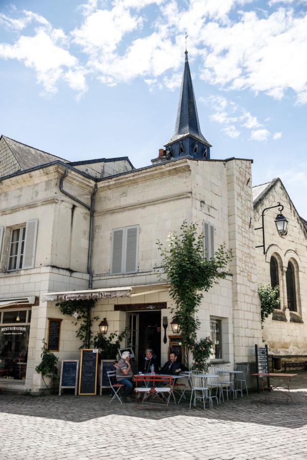 Downtown square, Fontevraud-l'Abbaye, France