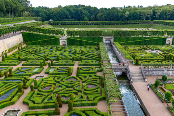 The gardens of Château de Villandry, Loire Valley, France