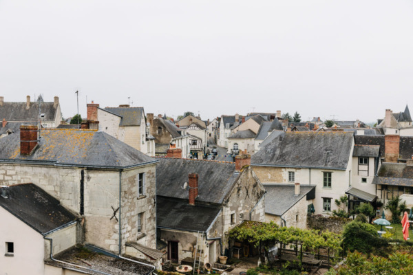 View from the ramparts: the charming town of Montreuil-Bellay, France