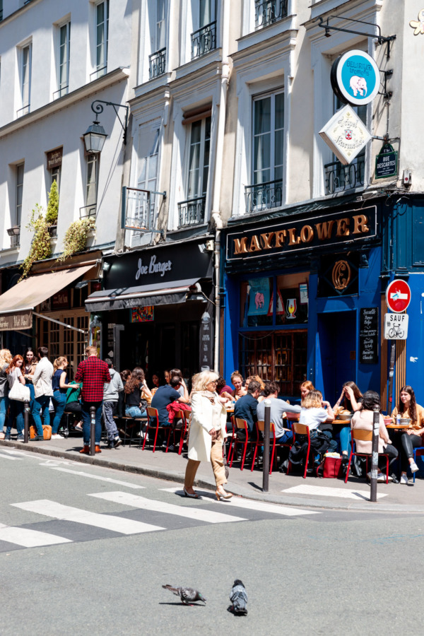 Walking the streets of the Latin Quarter, Paris, France