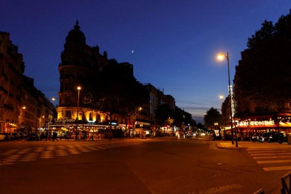 Montparnasse at night, Paris, France