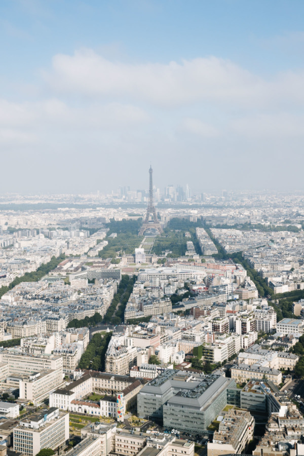 View of the Eiffel Tower from Montparnasse, Paris, France