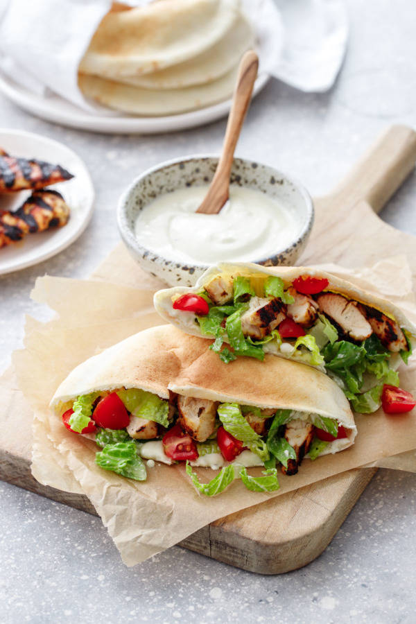 Chicken Caesar Salad Pita Recipe