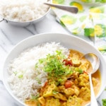 Vadouvan Chicken Curry Recipe with Smoked Basmati Rice
