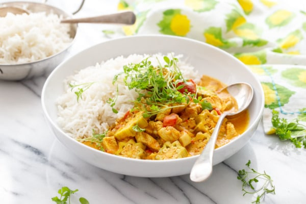 Vadouvan Chicken Curry with Smoked Basmati Rice