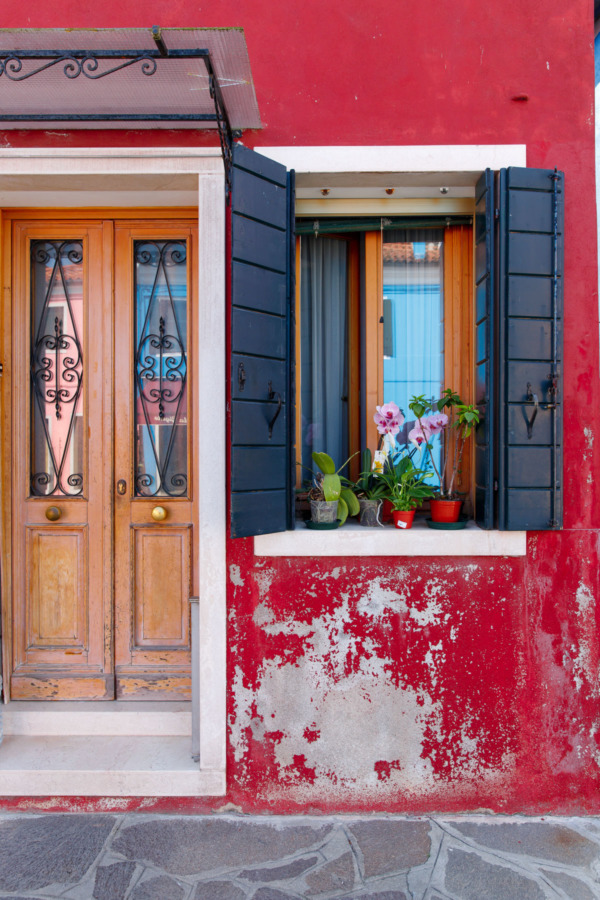Colorful doors, Burano, Italy