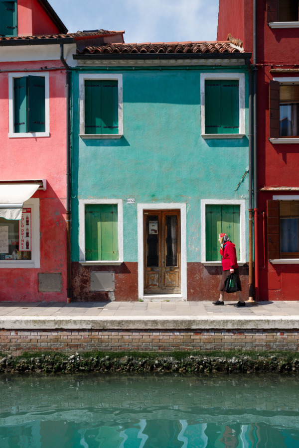Along the canal, Burano, Italy