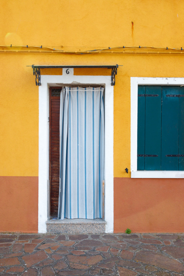 Yellow house, Burano, Italy