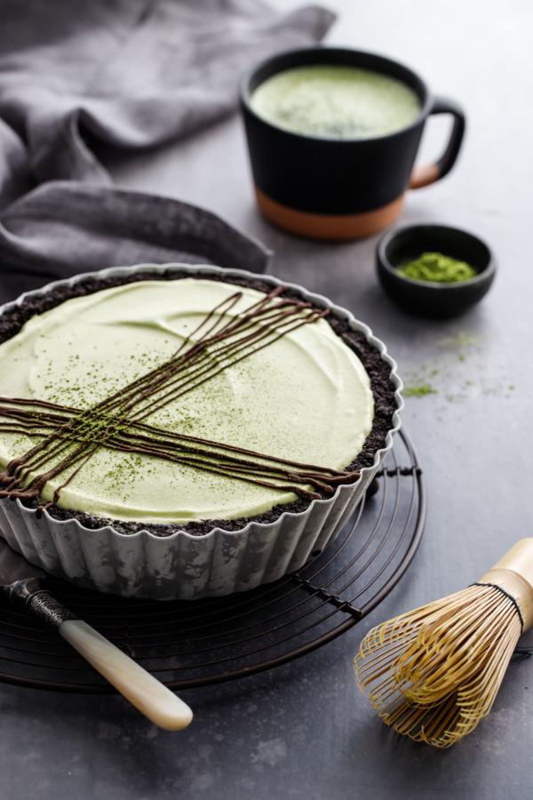 Ice Cream Fudge Pie Recipe with Homemade Matcha Mint Ice Cream