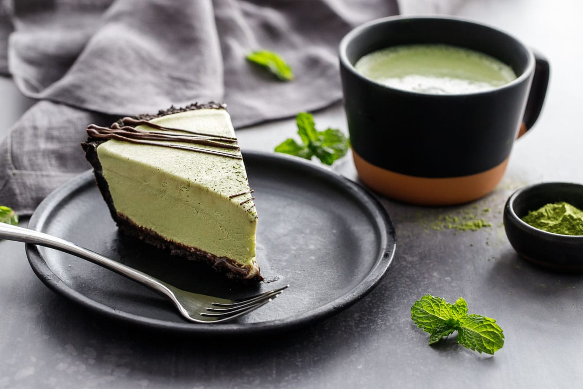 Matcha Mint Ice Cream Pie