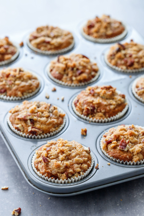 Get the Recipe: Banana Pecan Crumb Muffins