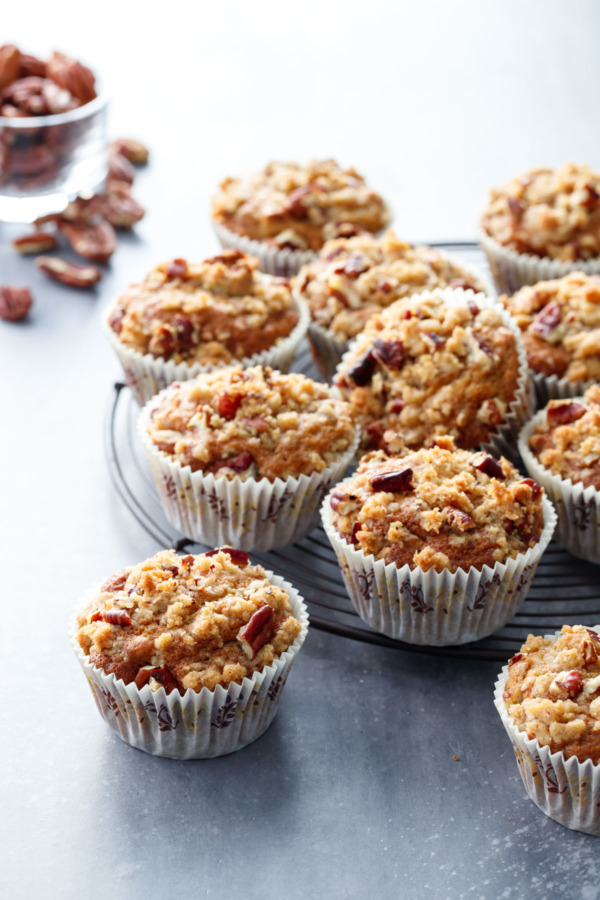 Banana Nut Muffins with Crumb Streusel Topping Recipe